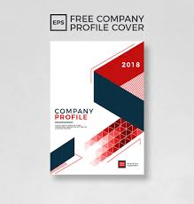 Free Template Company Profile Design Free Company Profile Cover Template On Behance