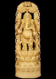 sold standing wooden ganesh statue 36