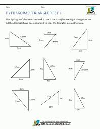 Excel. Pythagorean Theorem Worksheets: Math Worksheets Maths ...