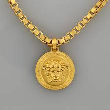 home rings all rings designer versace medusa pendant necklace