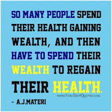 a short paragraph on health is wealth