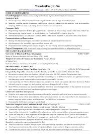... Resume for Data Science. Wenzhe(Evelyn) Xu 217-417-9270 |  wxu23@illinois.edu ...