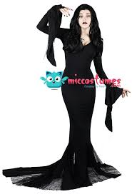 plus size wednesday addams costume the addams family morticia addams cosplay costume