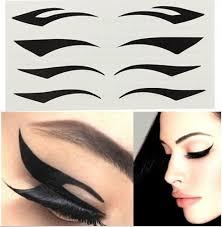 10packs cat eye makeup black stripe makeup eyeliner double eyelid tape black eye line