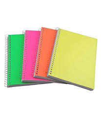 spiral notebooks 300 pages each ruled a4 size pack of 4