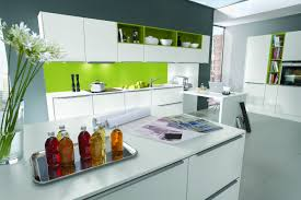 White Kitchen Modern Kitchen Room Design Cool Glass Kitchen Cabinet Door Deocr U