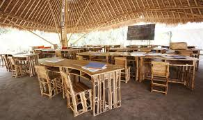 furniture made of bamboo. Green School Classroom, 100% Bamboo, Even The Blackboard Is Made From Bamboo . Furniture Of L