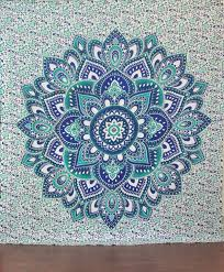 amazon green and blue mandala tapestry ombre mandala wall hanging hippie hippy tapestry dorm decor psychedelic tapestries indian tapestry bohemian  on mandala wall art with amazon green and blue mandala tapestry ombre mandala wall