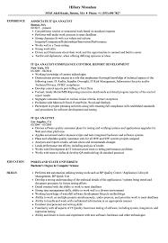 It Qa Analyst Resume Samples Velvet Jobs