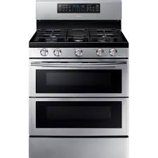 double oven gas range with self