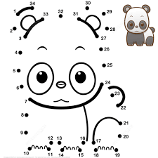 Small Picture Cute Baby Panda dot to dot Free Printable Coloring Pages