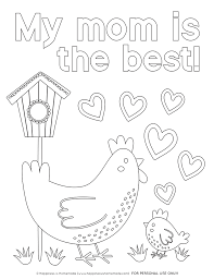 If you've download all the mothers day greeting card and want more free printable mothers day coloring pages for you and your mom i will give it for you without spending any cents… Mother S Day Coloring Pages Free Printables Happiness Is Homemade