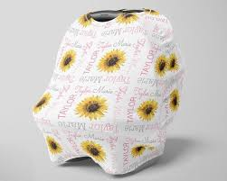 sunflower car seat canopy cover girl