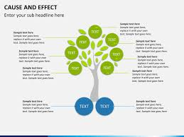 cause and effect diagram powerpoint template   sketchbubble    cause and effect diagram ppt slide