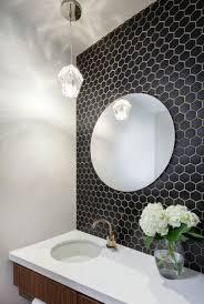 le cafe porcelain hexagon tile in 2x2 matte black