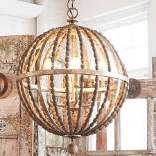 wonderful wood globe pendant light with wooden bead globe chandelier