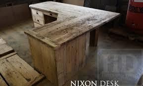 reclaimed wood office furniture. Reclaimed Wood Desk, Desks Toronto, Barnwood Epoxy, Resin, HD Threshing Office Furniture