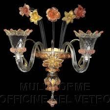 Lampadario Murano Rosa : Ap crk applique lampada a parete in vetro artistico
