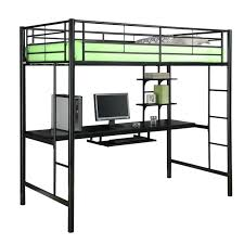 metal loft bed with desk bedroom bunk underneath amazing of full ameriwood studio twin in silver