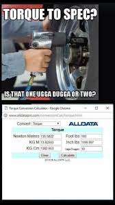 Torque Reference Chart Mechanics Guide To Torquing Bolts Album On Imgur