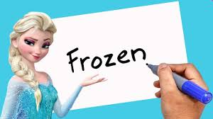 how to turn words frozen into cartoon elsa a theakashcreations