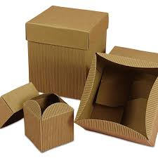 Gift Cardboard Boxes Natural Corrugated Out Gift Boxes