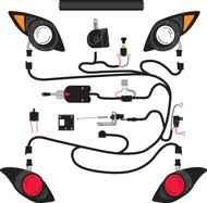 light kits for yamaha golf carts hd tl tllt horn brk lts turn signal w wiring harness for yam drive