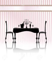 Image result for table and chairs silhouette