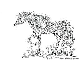 Printable Race Horse Coloring Pages Free For Adults Detailed