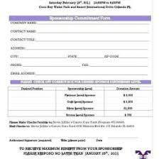 Free Sponsorship Form Template Pics 20 New Sponsorship Application
