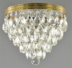 flush mount chandelier diy crystal furniture brass