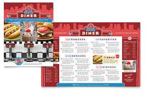 american template american diner restaurant menu template design