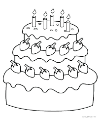 Free Printable Birthday Cake Coloring Pages Printable Birthday Cake