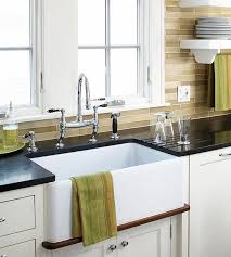 farm style sink. Farm-Style Sinks A Farm-style Or Apron-front Sink Ups The Decorating Quotient In Your Kitchen. Centuries-old Design, This Style Has Enjoyed New Popularity Farm