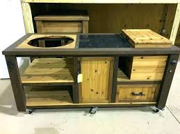 Mini Fridge Tables Custom Big Green Egg Table Outdoor Cabinet  Grill Or   Diy F7