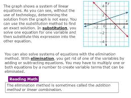 solution to linear equation math algebra using algebraic methods to solve linear systems ncert maths solution