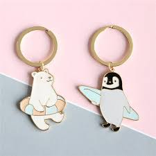 New Trendy <b>Cute Cartoon</b> Keychain Animal <b>penguin</b> Polar <b>bear</b> key ...