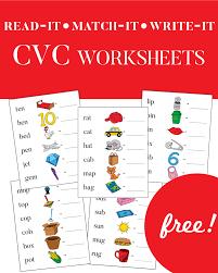 Cvc words phonics worksheets and teaching resources. Cvc Worksheets Phonics For Kids One Beautiful Home
