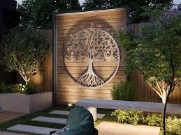 outdoor metal wall art metal tree wall