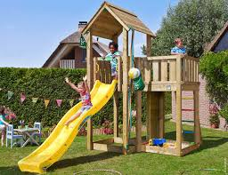 climbing frame with slide jungle mansion 11