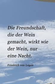 Zitat Von Friedrich Von Logau über Den Wein Und Die Freundschaft