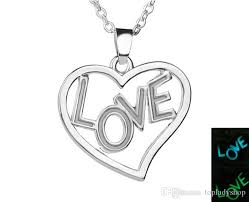 whole mother s day luminous pendant letter love can glow couple love heart necklace whole anchor pendant necklace gold circle pendant necklace from