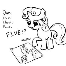 645983 artist smockhobbes drawing monochrome safe sketch solo sweetie belle sweetiedumb sweetie fail derpibooru my little pony friendship is