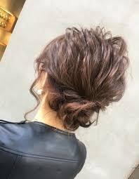 お団子シニヨンom 54 ヘアカタログ髪型ヘアスタイルafloat