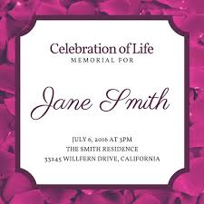 Floral Celebration Of Life Invitation Templates By Canva