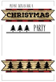 free printable christmas invitations templates christmas party invitation templates free printable paper trail