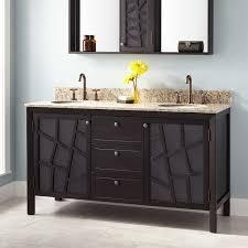 Double Vanity Cabinets Bathroom 60 Louise Double Vanity For Undermount Sinks Dark Brown Bathroom