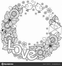 Bloemen Mandala Sieraad Kleurplaat Stockvector Irmairma