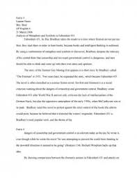 analysis of metaphors and symbols in fahrenheit essays zoom