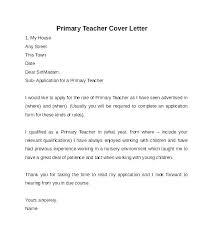 Experienced Teacher Cover Letters New Teacher Cover Letter Examples No Experience For Teaching Job